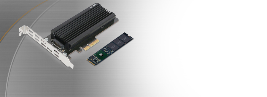 1 x M.2 NVMe SSD to PCIe 3.0 x4 Adapter with Heat Sink & PCIe Bracket